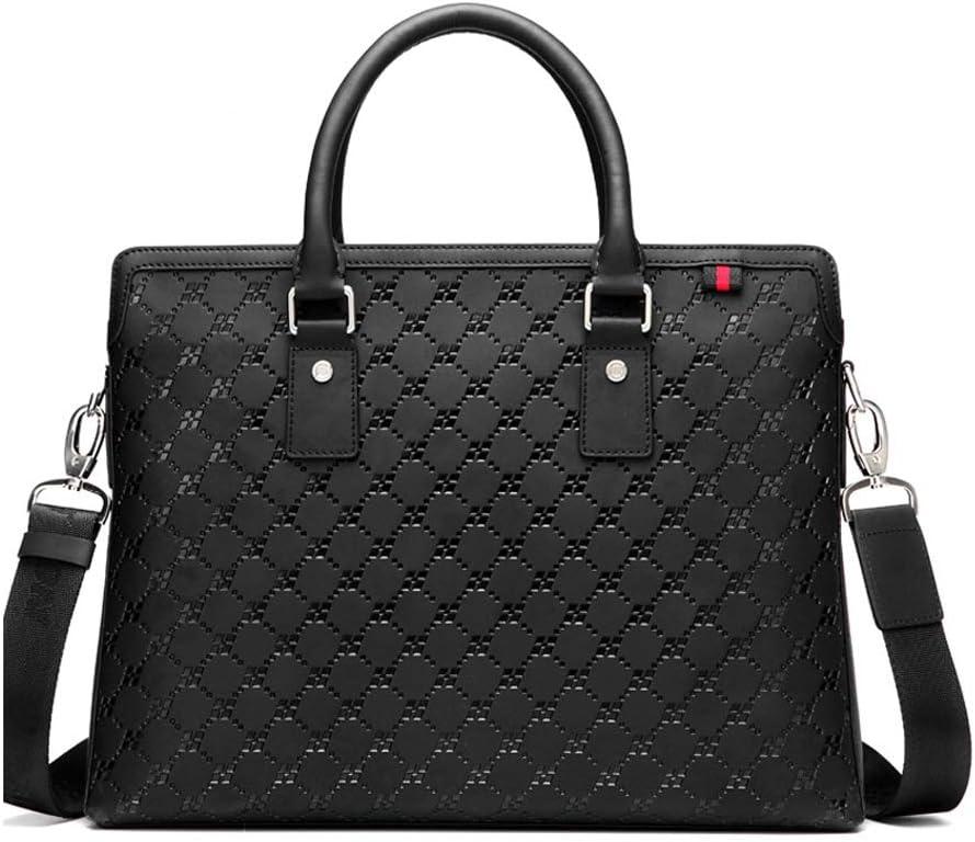 Shoulder Bag Laptop Case Handbag Business Briefcase Multi-Functional Travel Rucksack Fits 15 Inch for Men Black