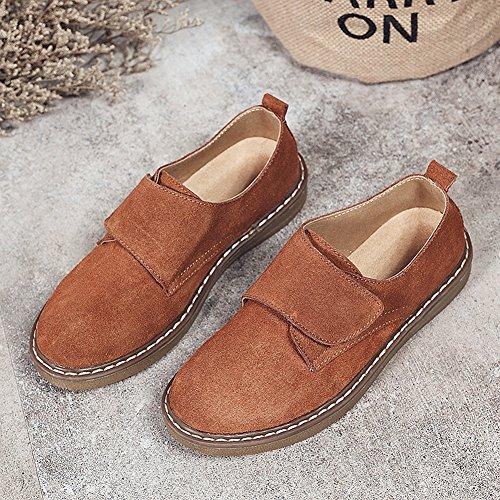 Cybling Flat Fashion Uformell Sneaker For Kvinner Komfort Walking Reise Sko  Brun ...