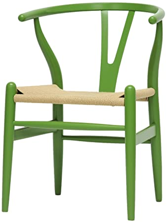 AmazoncomBaxton Studio MidCentury Wood Modern Wishbone Chair