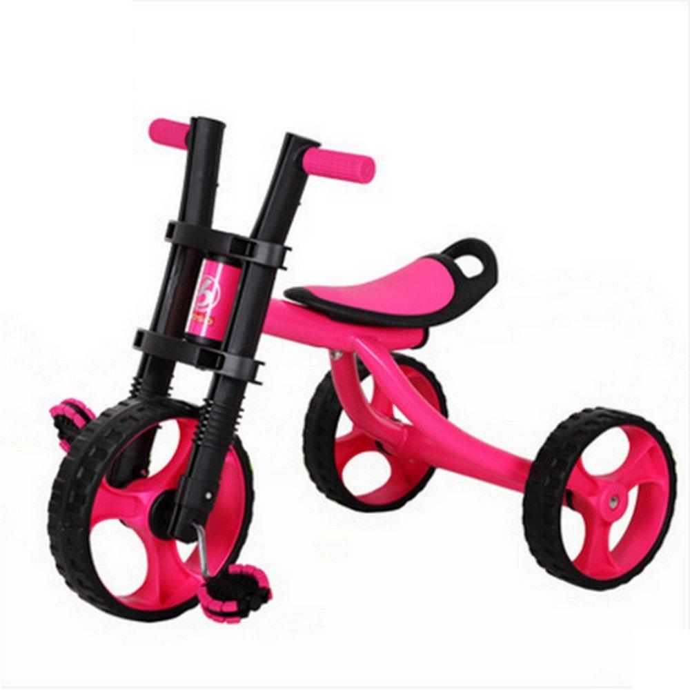 YANFEI 子ども用自転車 子供用三輪車、ビーチバイク、子供用自転車、2-5ベビーカー、ベビーおもちゃ車 子供用ギフト B07DZDTLT3赤