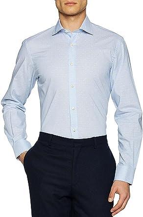 El Ganso Cuello Italiano Slim Fit Rayas Mas Topitos Camisa Casual para Hombre: Amazon.es: Ropa y accesorios
