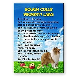 Rough Collie Property Laws Fridge Magnet No 1 7