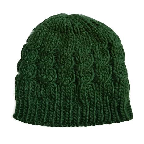 Cable de punto señoras sombrero de ganchillo Niñas Gorro para mujer  sombrero gorra invierno caliente d326755349d