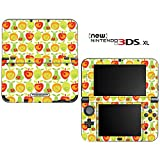 Lemon Apple Pear Orange Fruit Pattern Decorative Video Game Decal Skin Sticker Cover for the ''New'' Nintendo 3DS XL (2015-2017 Edition)