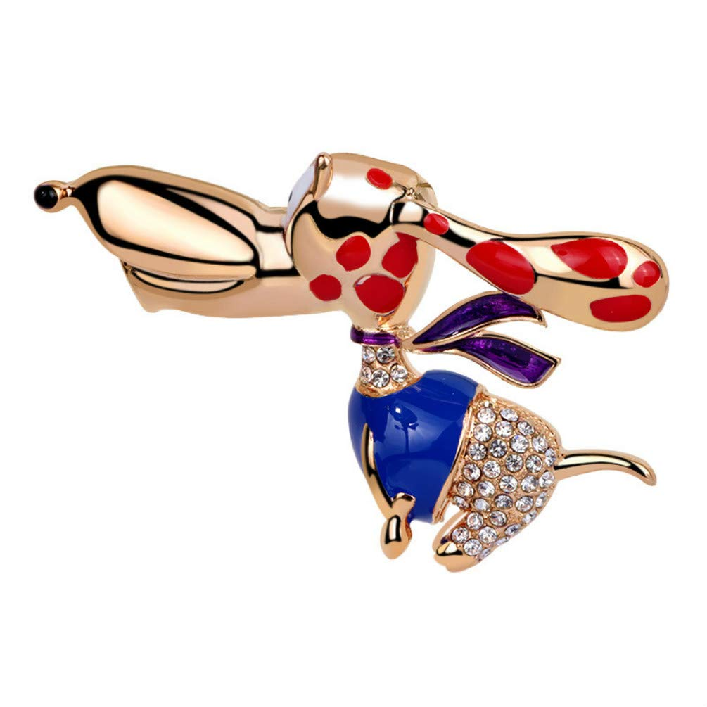 YYOGG Brooch European and American Cartoon Hyena Brooch Pet Dog Pin Men and Women