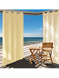 Outdoor Curtain Panel For Patio 50x108Inch   Home Cal Versatile Thermal  Insulated Grommets Blackout UV Ray
