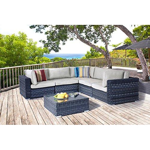 Wohnzimmer Winkel in Polyrattan Mod. Madeira Gartenmöbel