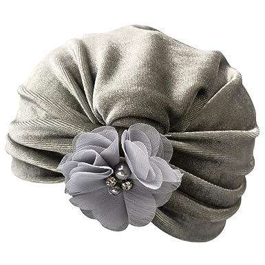 19658007db3d Webla 1 Pc Nouveau-Né Enfants Bébé Garçon Fille Coton Fleur Turban Bonnet  Chapeau Chapeau