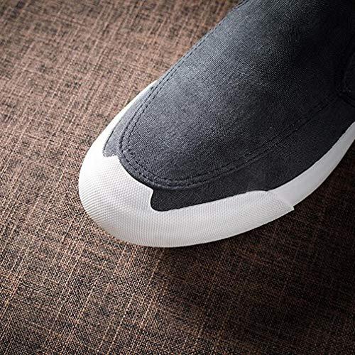 Été Slip on Taille Hommes Sneaker Noir Ycsd couleur Casual Oxford Printemps uk7 En Chaussures cn41 Plates Noir Et Eu40 q6tqPI