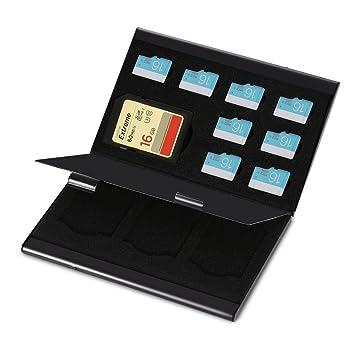 zjchao Caja de protección de Almacenamiento de la Tarjeta de Memoria del Caso para Tarjeta Micro SD y la Tarjeta del TF de la aleación de Aluminio de ...