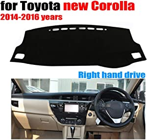 Qnice Car Dashboard Cover for Toyota Corolla 2014-2016 Right Hand Drive Dash Mat Covers Auto Dashboard Protector Accessories