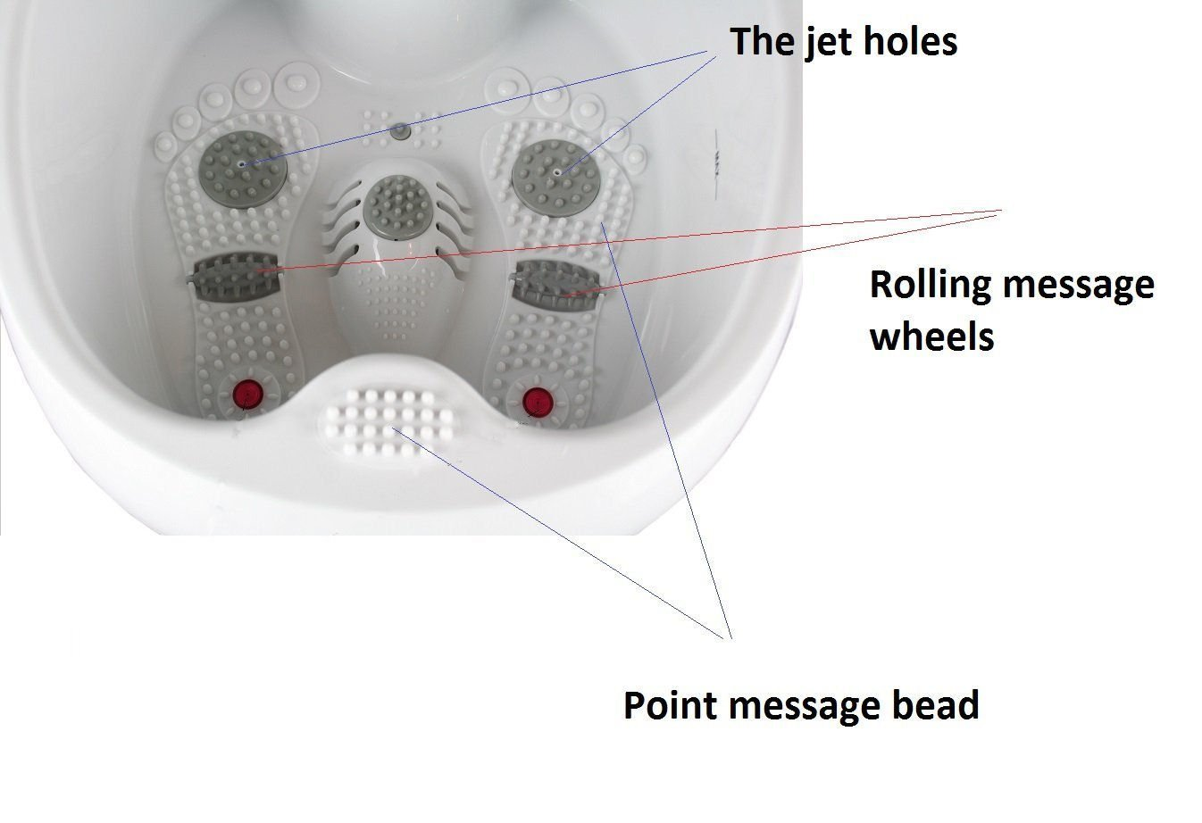 Amazon.com: All in one foot spa bath massager w/ heat, HF vibration ...