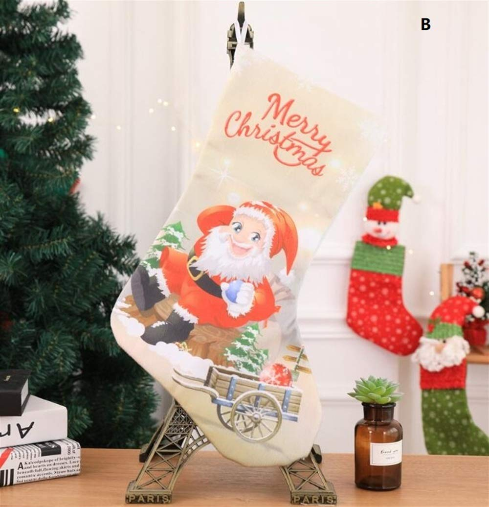 Sevenpring Creative Theme Decorations Christmas Stocking Decoration Christmas Supplies Hotel Bar Party Shopping Mall Pendant(B)
