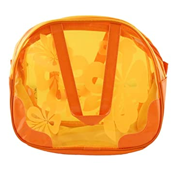 753a0eb116e9 Candy Color Waterproof Transparent Beach Tote Wash Bag(Orange)  Amazon.co.uk   Sports   Outdoors