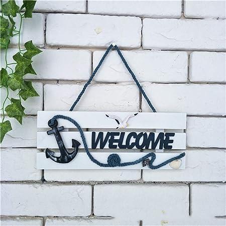 Cartel de bienvenida Decoración de pared hecha a mano Arte ...