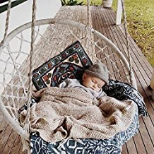GUCHIS Handmade Knitted Swing Home Decoration Furniture Hanging Chair Outdoor Cotton Rope Patio Garden Hammock Chair Tree Net Swing for Lounging and Relaxation
