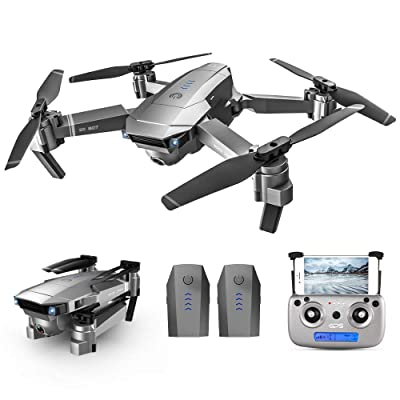 GoolRC SG907 GPS Drone, 5G WiFi FPV Foldable Drone with 4K HD Front Camera and 720P Optical Flow Positioning Camera, Follow Me, Gesture Photos/Video RC Quadcopter with 2 Batteries: Toys & Games