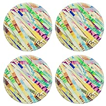 MSD Round Coasters Image ID 27205985 Vintage looking Money to burn banknotes cut with a paper shredder