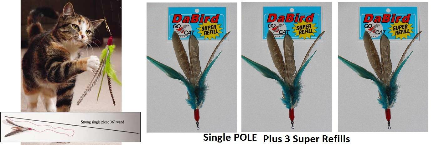 Da Bird Single Pole (36'') Plus 3 Super Guinea Refills by Da Bird