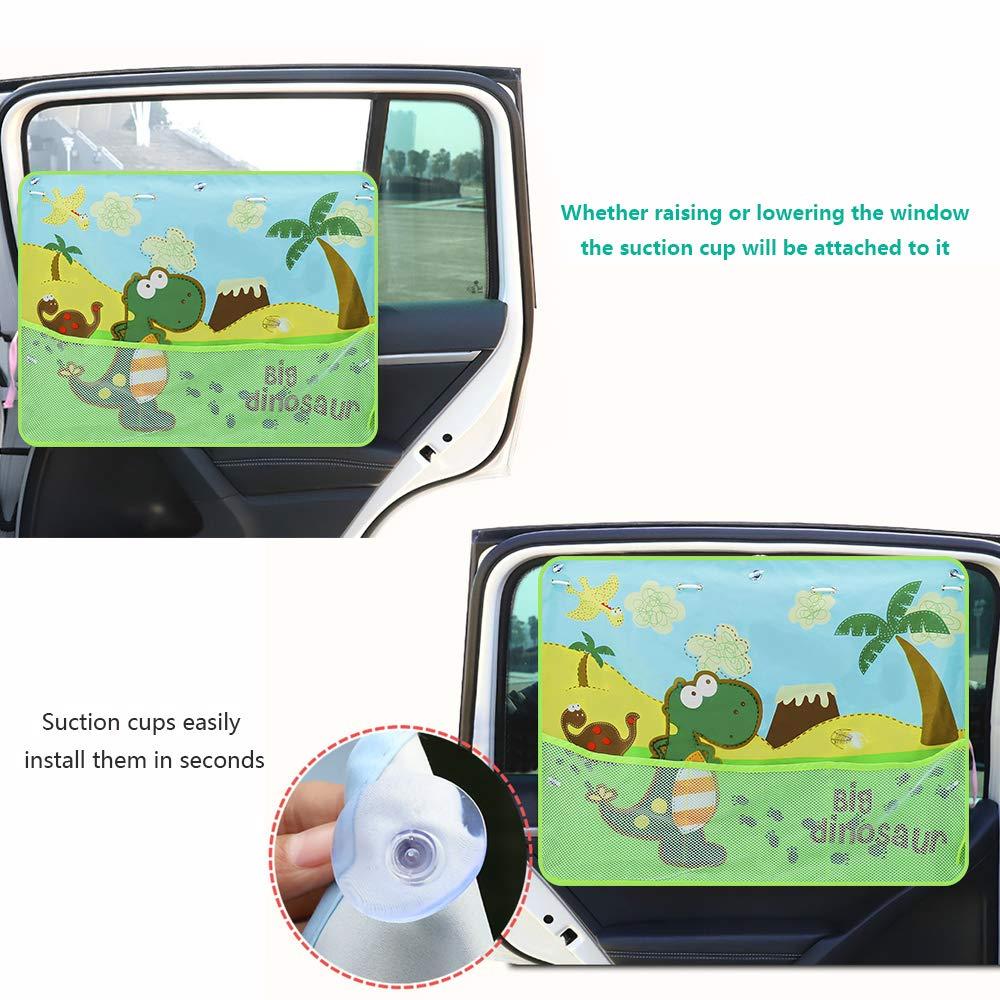 Welltop 2 St/ück Auto Kinder Sonnenblenden Sonnenblende Selbsthaftende mit UV Schutz f/ür Ihre Autoscheiben Sonnenschutz f/ür Kinder 67 x 48 cm