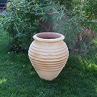 Cerámica creta hecha a mano terracota ánfora, jarrón resistente a las heladas, jardín exterior para plantar o como decoración.: Amazon.es: Jardín