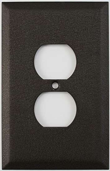 Over Sized Jumbo Brown Wrinkle 1 Gang Duplex Outlet Wall Plate