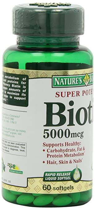 Nature's Bounty Super Potency Biotin 5000mcg