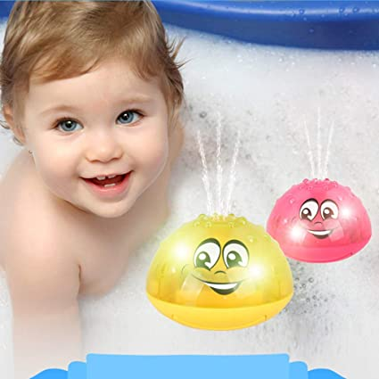 Floating Bath Toy Toddler Kids Pretend Play Water Toys Cars Squirting Bathing