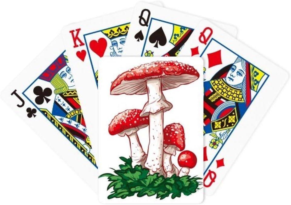 DIYthinker Delicious Red Poisonous Mushroom Illustration Poker Juego de Cartas de póquer Juego de Mesa Regalo: Amazon.es: Deportes y aire libre