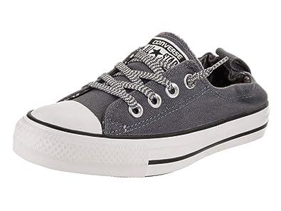 Converse Women s Chuck Taylor All Star Shoreline Slip-on Casual Shoe Light  Carbon White 6f698c0bc