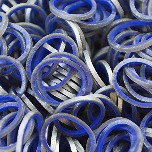 Rainbow Loom Medieval Navy Blue Rubber Bands with 24 C-Clips