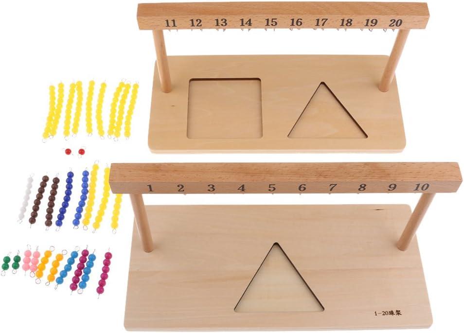 Sharplace Math/ématique De Montessori 1-20 Barres De Perle Jouet /Éducatif De Maths Denfants