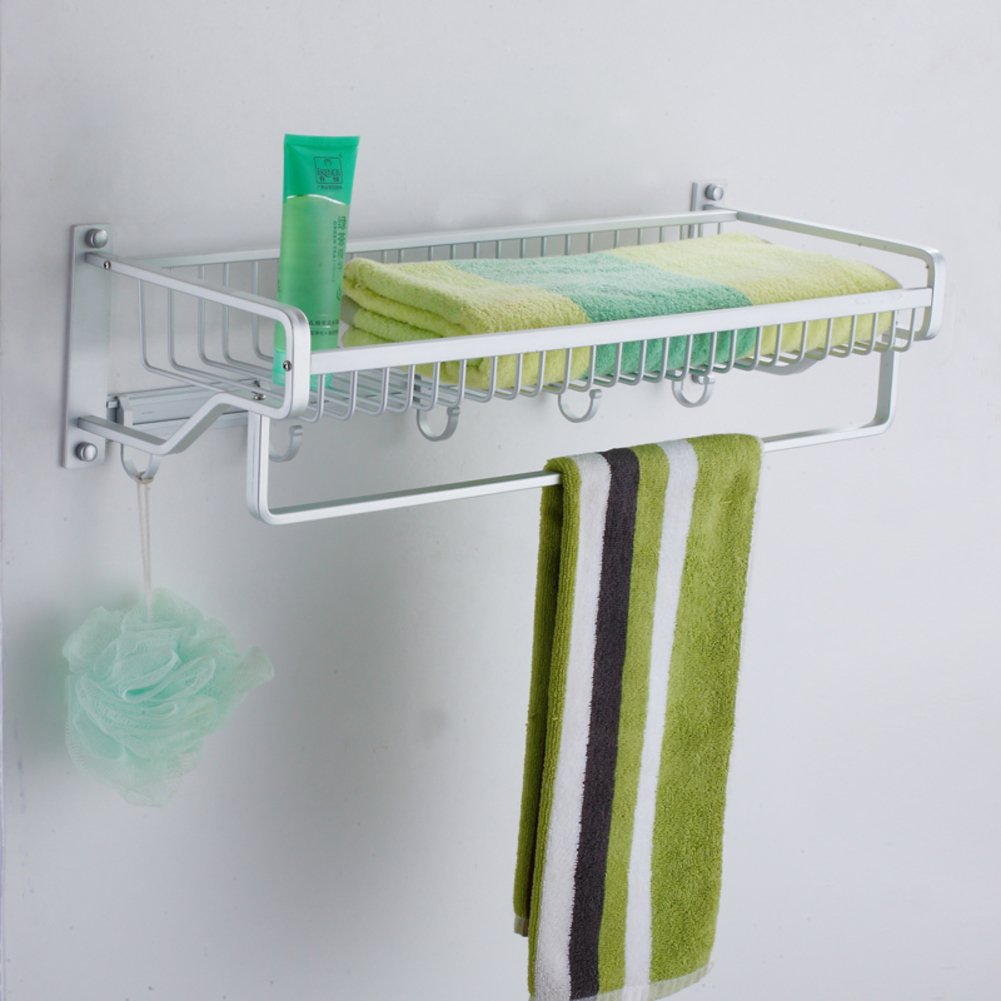 Space aluminum wire Towel rack/towel rack/Double rod with hook/shelf durable modeling