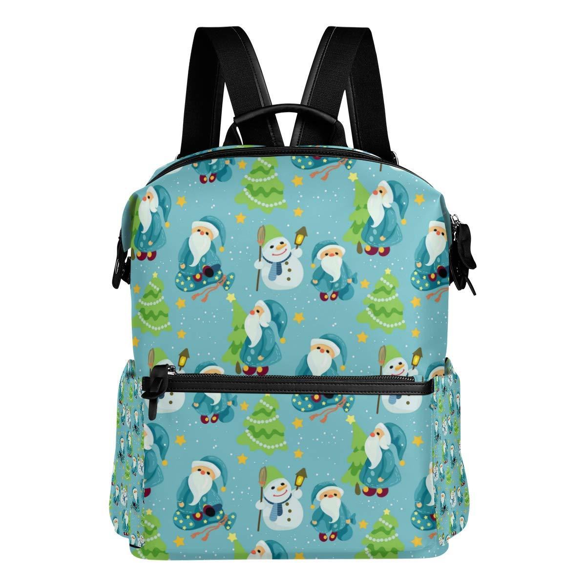 クリスマス柄グラフィック かわいいパーソナライズトラベルバッグ カレッジバックパック 大きな学生用バッグ 機内持ち込みバッグ   B07L4NJ3Q9