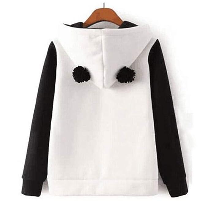 Amazon.com: Hoodie Kawaii Lovely Panda Hoodies Women Spring Autumn Hooded Sweatshirt Casual Fleece Pullover Jumper Tops Sudadera Mujer,L: Clothing