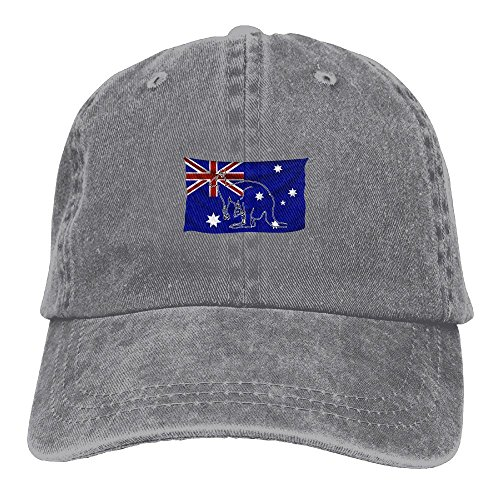 Z-YY Kangaroo In Australian Flag Adults Adjustable Cowboy Cap Denim Hat For Outdoor
