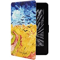 BHTZHY Etui na Kindle Mosunx tablet do Amazon Kindle Paperwhite 4 Golden Country pszenica pole 2018 ultracienkie…