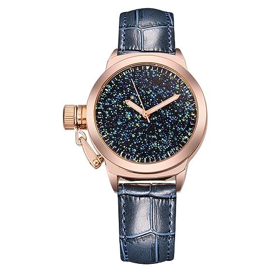 Relojes de mujer Tendencias de moda Relojes a prueba de agua Relojes de pulsera de cuarzo de diamantes Cinturones: Amazon.es: Relojes