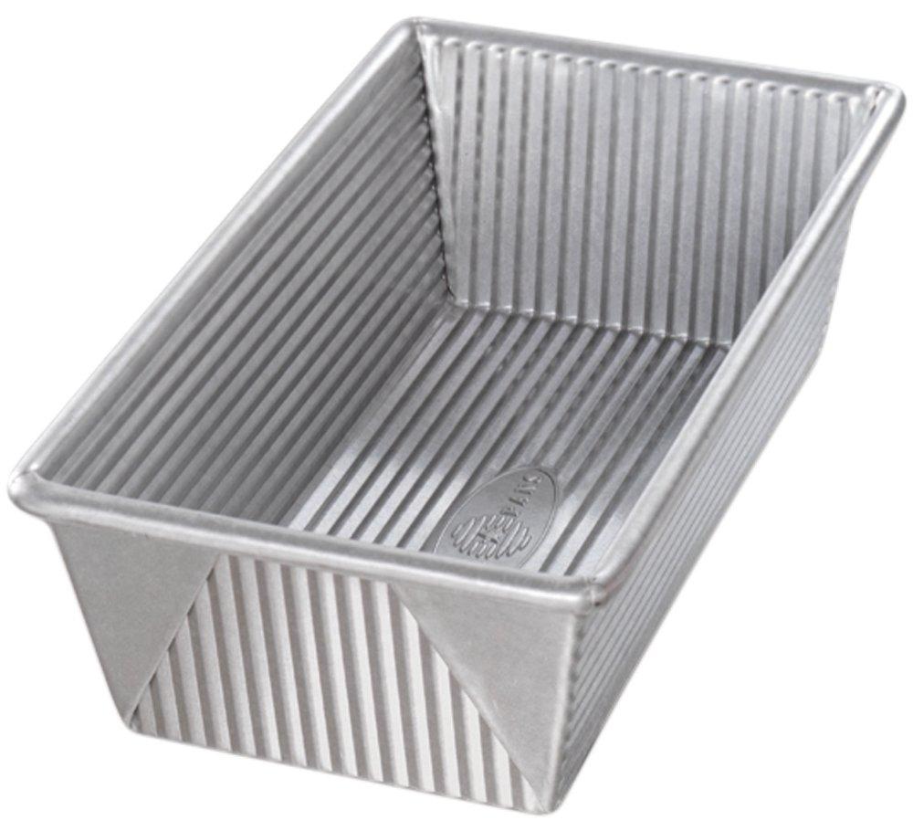 USA Pan 1145LF Bakeware Aluminized Steel 1 1/4 Pound Loaf Pan, Medium, Silver by USA Pan