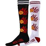 Red Lion Mx Hot Flames Sb Mismatched Softball Crew Socks