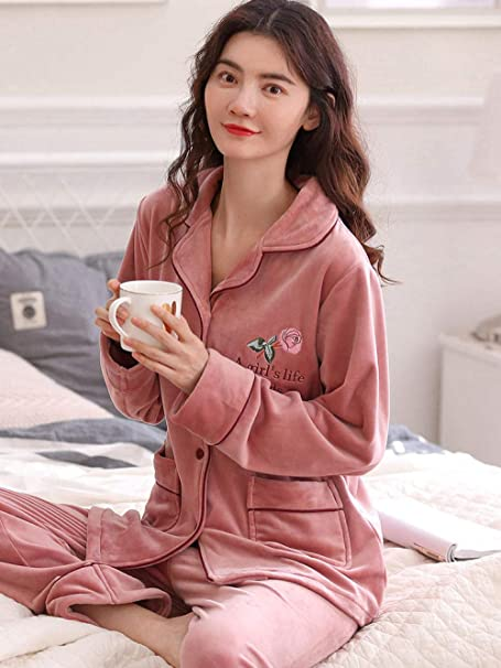 Bayrick Pijama Invierno Mujer calentito,Conjunto de Pijamas ...