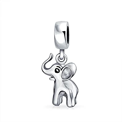 Bling Jewelry Lucky Elephant Animal Bead Charm .925 Sterling Silver OJB8aAWk