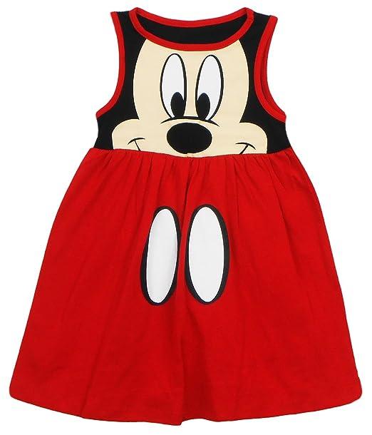 Amazon.com: Disney bebé niñas Mickey cara vestido, rojo ...