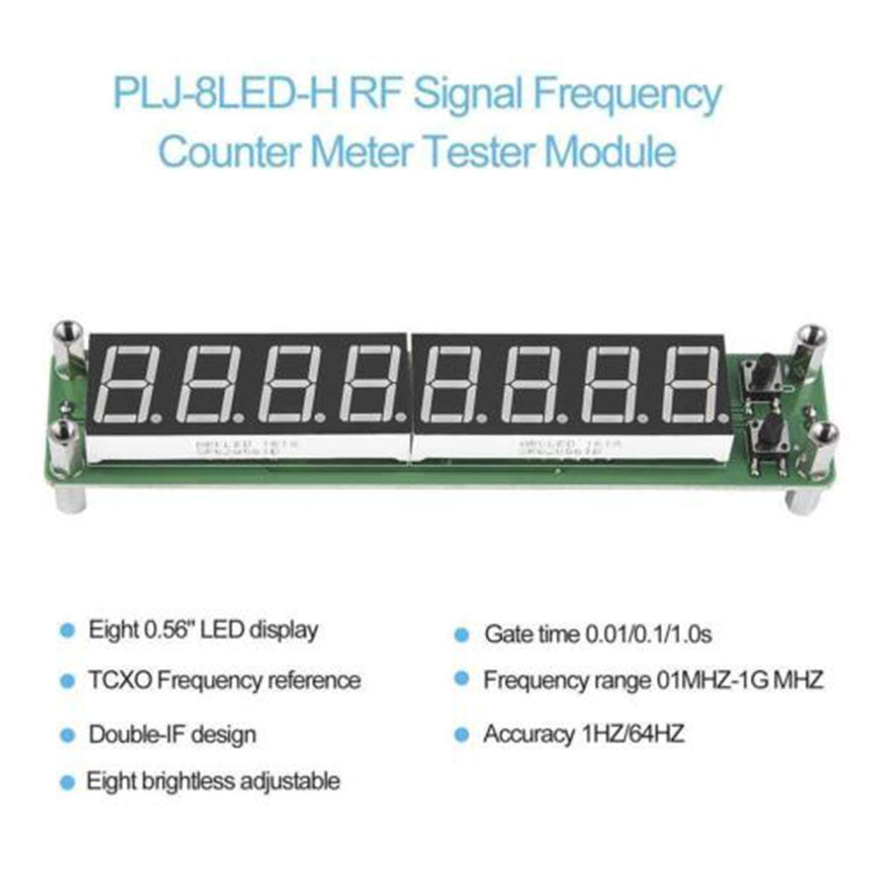 Frequenza PLJ-8LED-H segnale RF modulo contatore Tester Cymometer 0.1~1000MHz