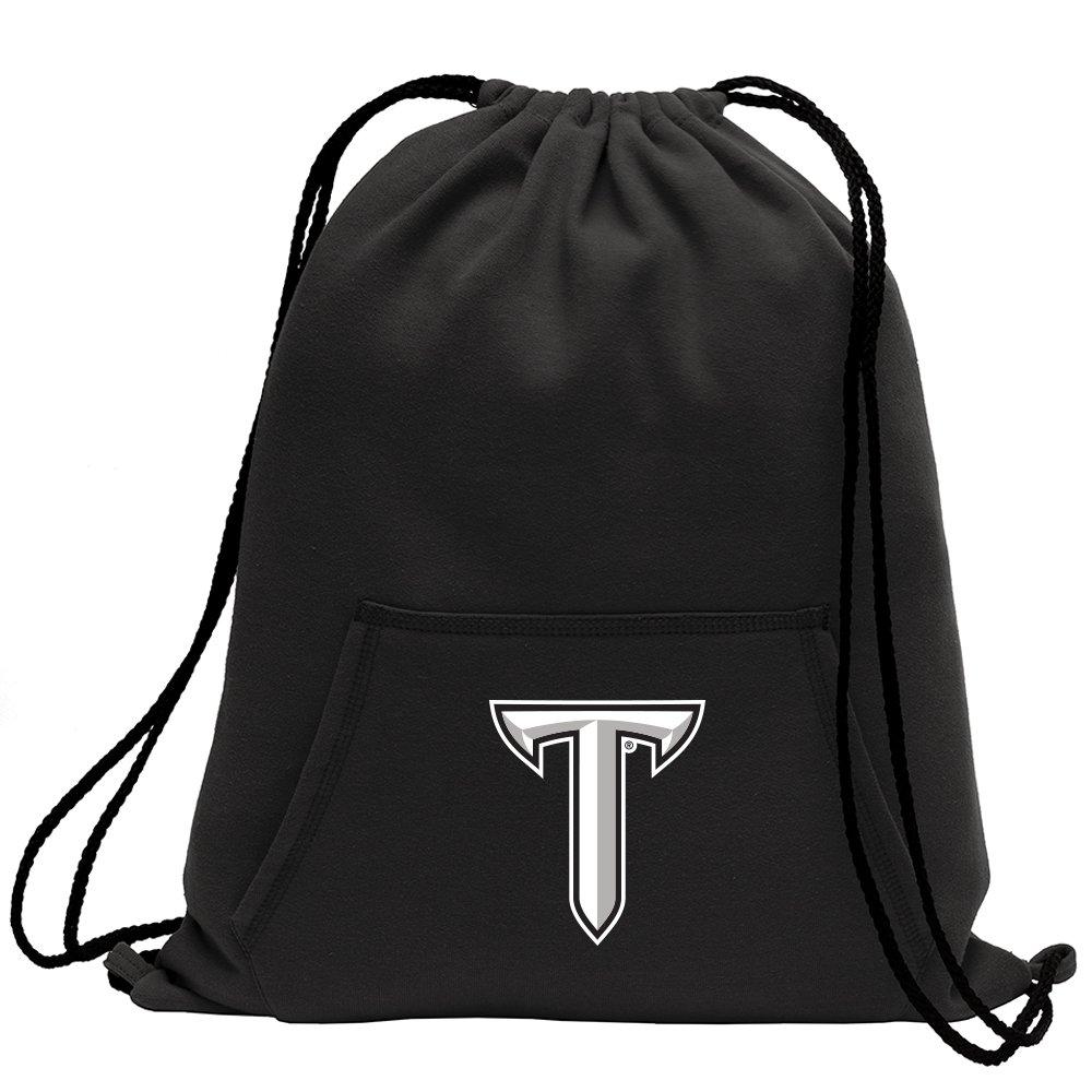 Promoversity NCAA Troy State Trojans Adult Sweatshirt Cinch Bag,17.75'' x 14.5'',Black