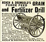 1898 Ad Hench Dromgold Grain Fertilizer Drill Farming Equipment Implement Feed - Original Print Ad