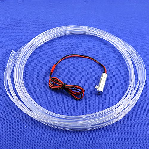 3MM x3 LED Skirt Side Glow Fiber Optic Cable Light Kit 1.5W DC 12V Illuminator Car Home (Blueice) by Shine (Image #1)'
