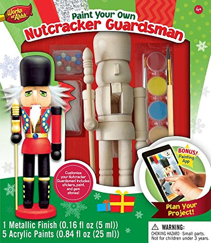 MasterPieces Nutcracker Works of Ahhh Guardsman Holiday Wood Paint Kit