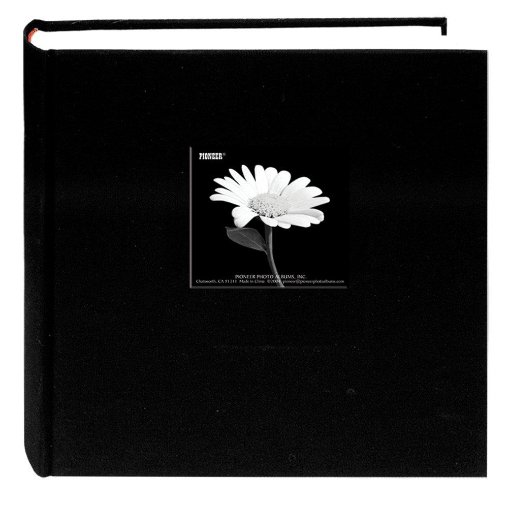 Pioneer Photo Albums 200 Pocket Fabric Frame Cover 5 x 7-Inch Photo Album, Deep Black DA-257CBF/DB