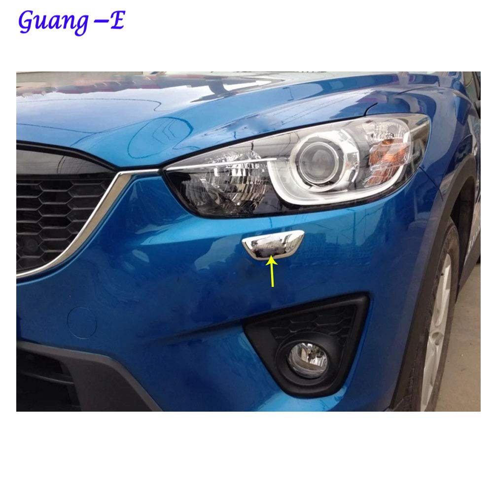 Car Body Front Head Light lamp Clean wash Frame Stick ABS Chrome Cover Trim Hoods 2pcs for Mazda CX5 CX5 2013 2014 2015 2016